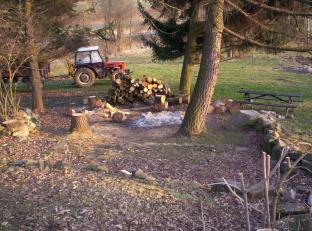Traktor na farmě